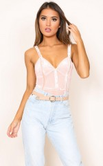 Be About You bodysuit in blush