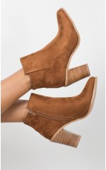 Billini - Isabella in dark tan suede