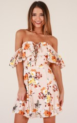 Candy Girl dress in beige floral