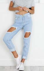 Daria mum jeans in light wash