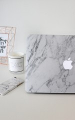 Laptop Decal Cover in White Marble - 15 Inch MacBook air