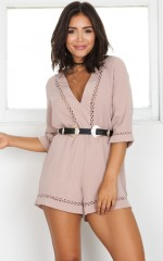Love And Dream playsuit in mocha