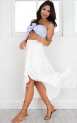 Move Along Skirt in white