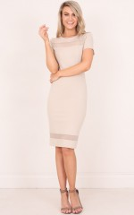 Jessie dress in beige