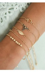 Link it Up 5pc bracelet set in gold