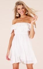 Lavish Love dress in white