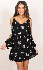 Locked Out Of Heaven dress in black floral
