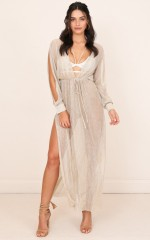 Mystic Nights Dress in Gold Lurex