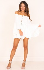 Montana playsuit in white