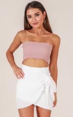 Not Happening skirt in white