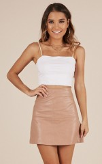 Lost In You skirt in blush