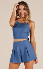 Love Someone Else two piece set in blue