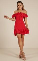 Gotta Believe dress in red