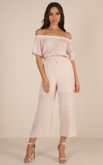 Borrowed Time jumpsuit in blush