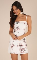 Feels So Right dress in white floral