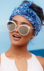 Rocky Start Sunglasses in Cream Print