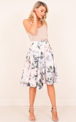 My Sweet Heart skirt in pink floral