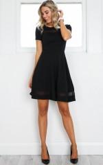 Take Note Dress in Black