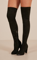 Therapy Shoes - Ambrose Boots in black micro