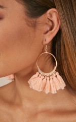 One Way Or Another earrings in blush