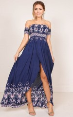 Ray Of Light maxi dress in navy floral