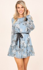 Todays Princess dress in blue floral