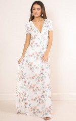 Trust Me maxi dress in white floral