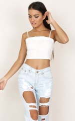 Bandoo crop top in white