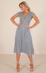 Beyond The Surface dress in navy stripe