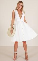 Island Vacay dress in white