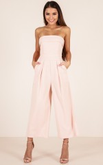 Up Ahead jumpsuit in beige
