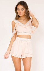 Boy Trouble two piece set in blush