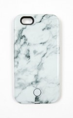 Vivid Case Selfie Lighting iphone 6 cover in white marble