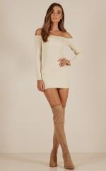 Walk Me Home knit dress in cream