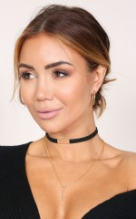 What Are You Waiting For choker in black and gold