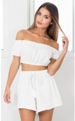 Little Daisy two piece set in white