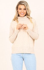 Yours Forever knit in beige