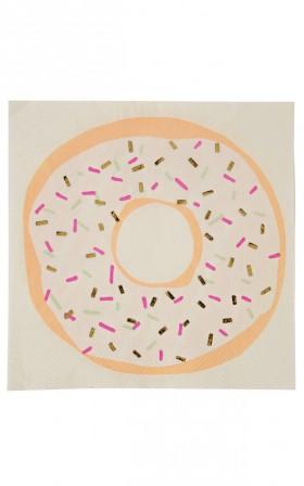 Outliving - Doughnut Napkins 16 pc set in white