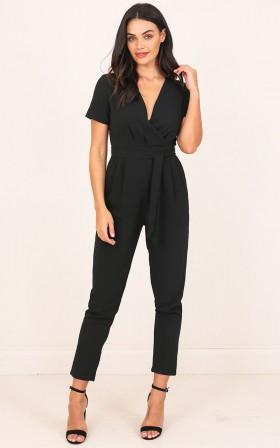 Standing Ground Jumpsuit in Black