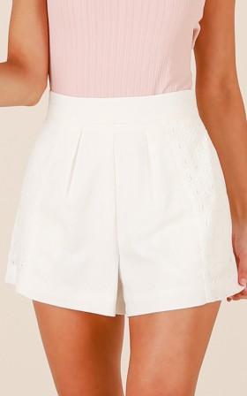 Better Lovin shorts in white