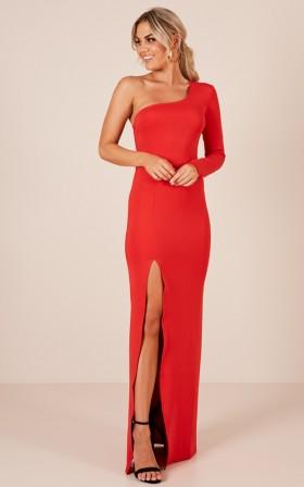 Blazing Star maxi dress in red