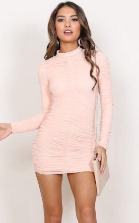 First Class dress in blush