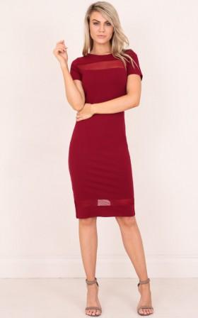 Jessie dress in wine