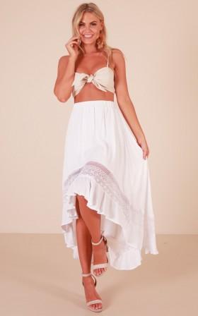 Keep My Secret skirt in white
