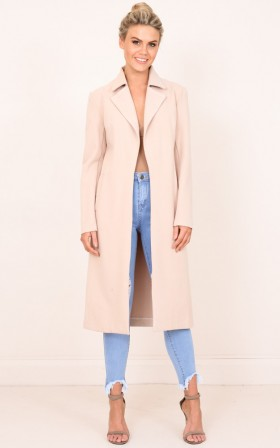 Knew About You coat in beige
