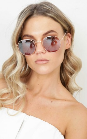 Retrograde sunglasses in rose gold