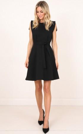 Risk Taker Dress in Black