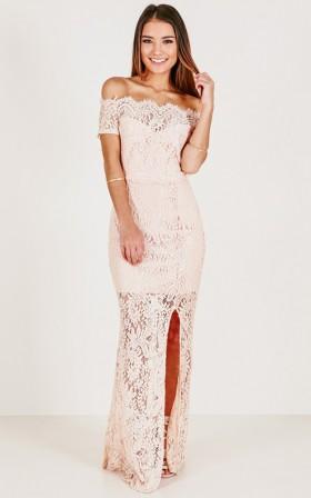 Crystal Clear maxi dress in mocha