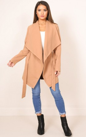 Step Inside Coat in Camel