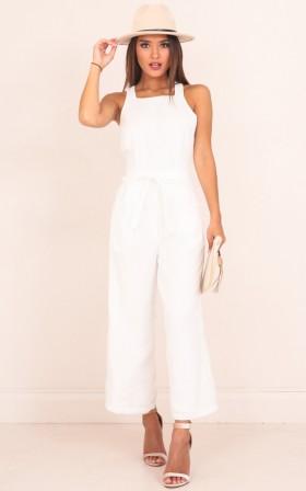 Sweet Secrets jumpsuit in white